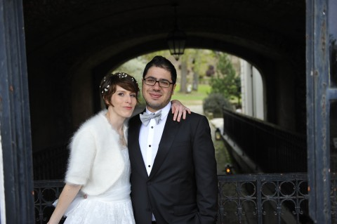 couple marié parc